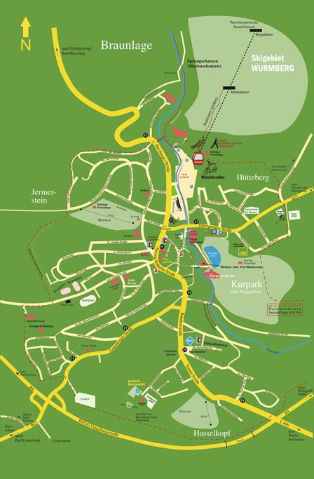 Stadtplan Braunlage Harz