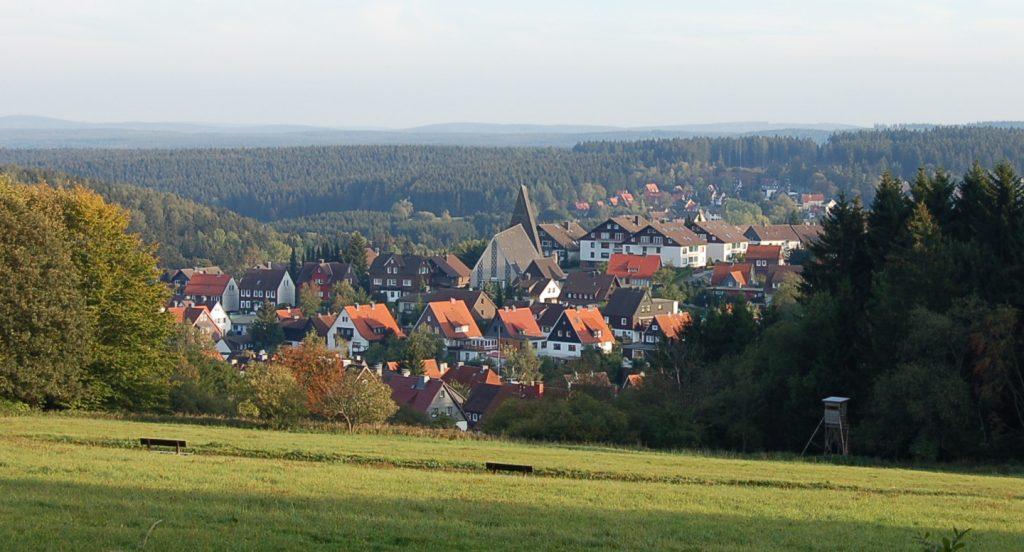 Blick auf Braunlage im Harz Blick auf Braunlage im Harz